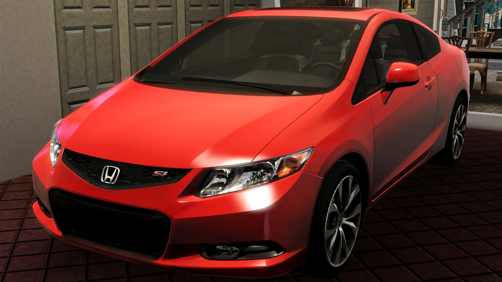 my sims 3 blog 2012 honda civic si coupe by fresh prince. Black Bedroom Furniture Sets. Home Design Ideas
