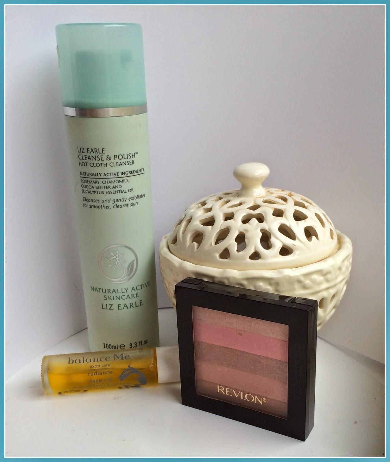 liz-earle-cleanse-and-polish-revlon-highligher-balance-me-facial-oil