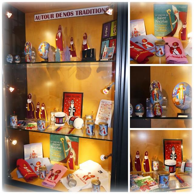 Objets autour de Saint Nicolas à la boutique de l'Office du tourisme de Nancy