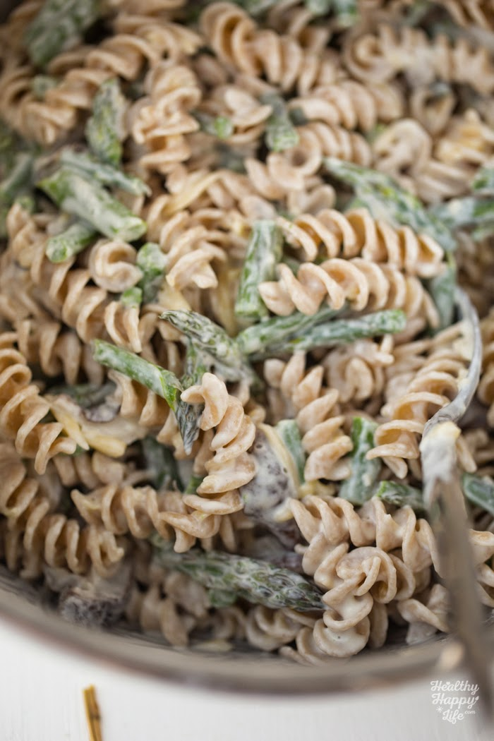 Lemon asparagus mushroom cheezy pasta bake creamy amazing vegan before baking asparagus asparagus is such a healthy spring veggie with a hearty texture perfect for adding to hot or cold pasta dishes ccuart Image collections