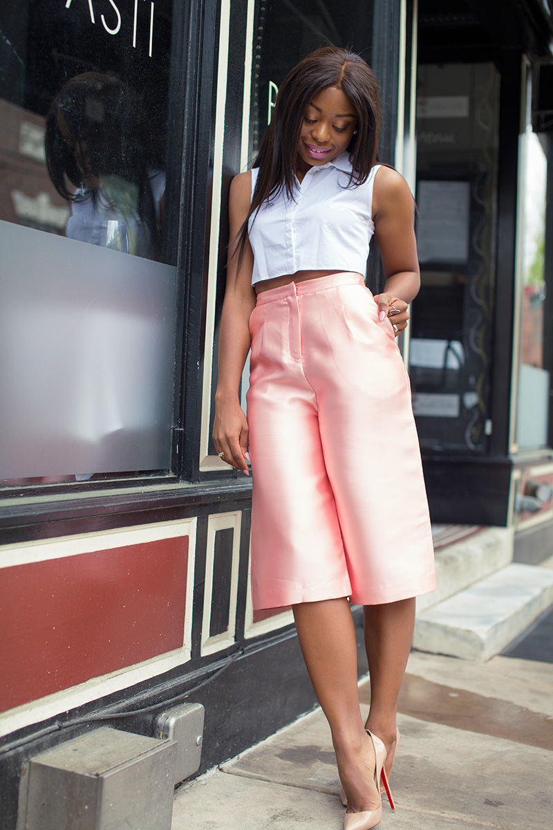 Blush culottes