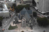 Christchurch Cathedral - Tower Destroyed and Building Damaged
