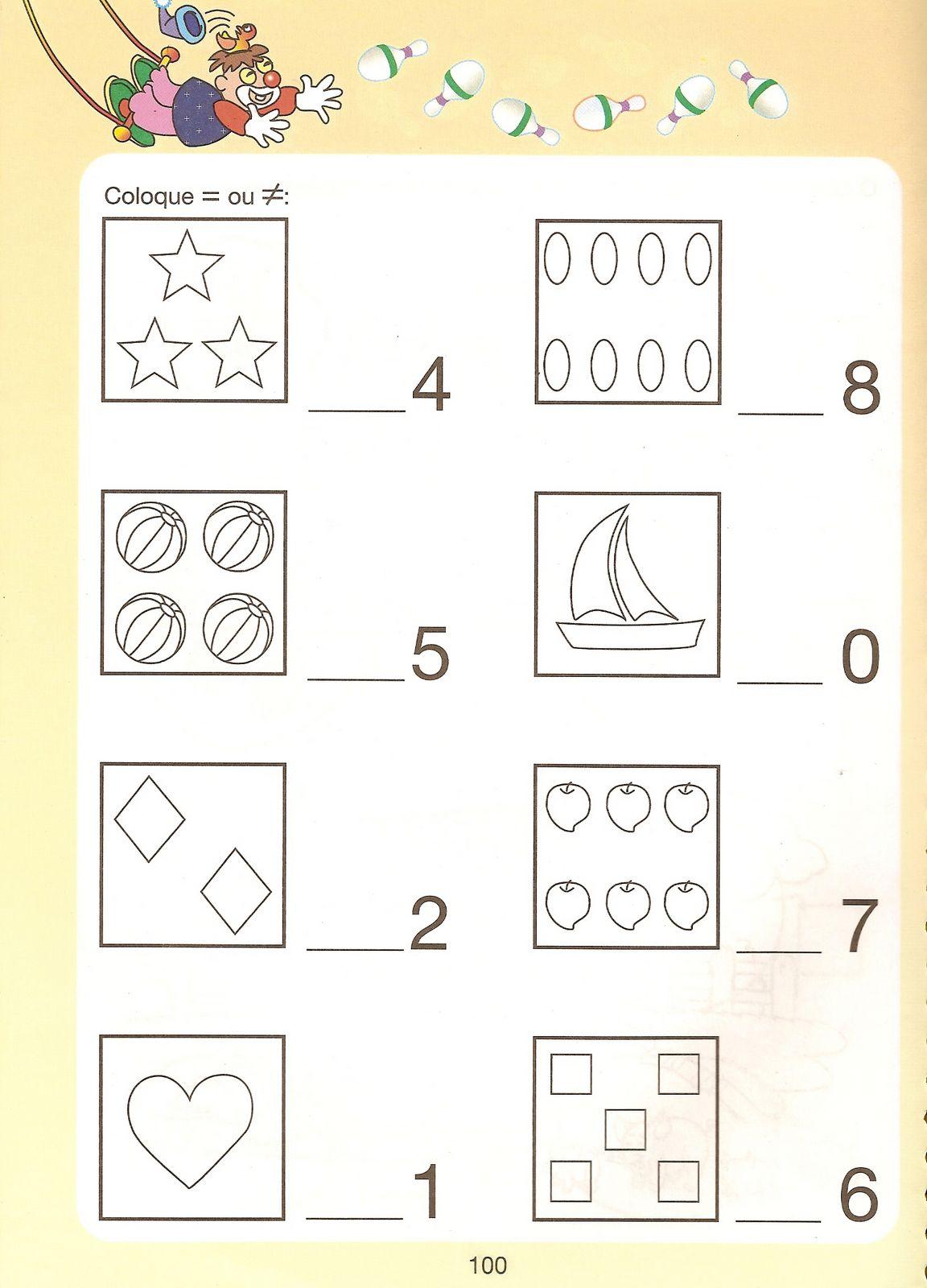 Favoritos MATEMÁTICA - ATIVIDADES MATERNAL EDUCAÇÃO INFANTIL ALFABETIZAÇÃO 5  WG85