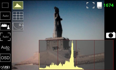 Android Camera App - OSD - Histogram