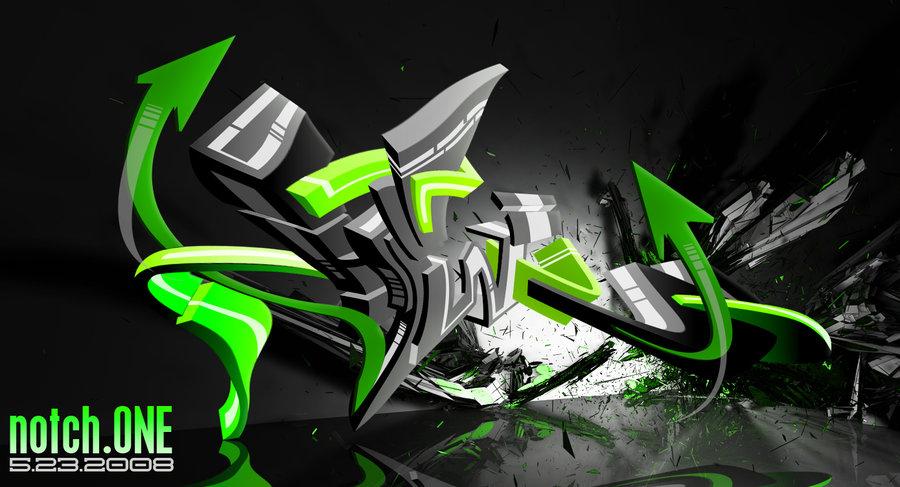 wallpaper graffiti 3d.