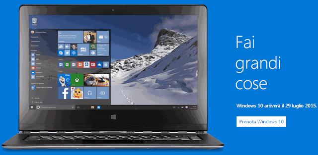Windows 10 esce il 29 Luglio 2015