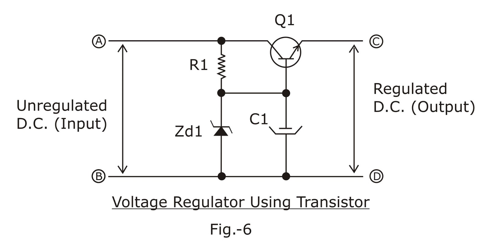 Electronic Circuits Transistor Regulator Circuit Can Adjustable Output Voltage The Above Is An Improved Version Of A In This Q1 Series Pass Element Collector
