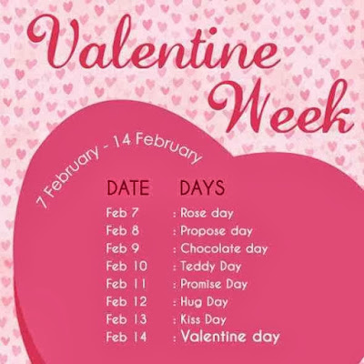 Happy Valentines Day Full Week List Of 2016 - Valentine Week Schedule