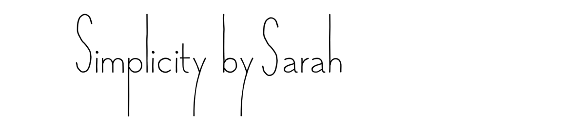 Simplicity by Sarah