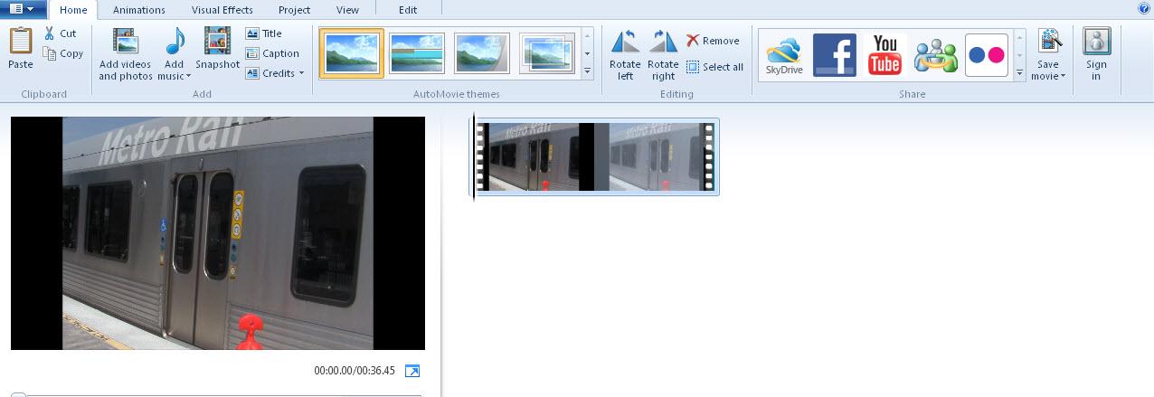 create video notebook uploading using windows live movie