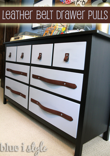 Diy With Style Leather Belt Drawer Pulls Blue I Style