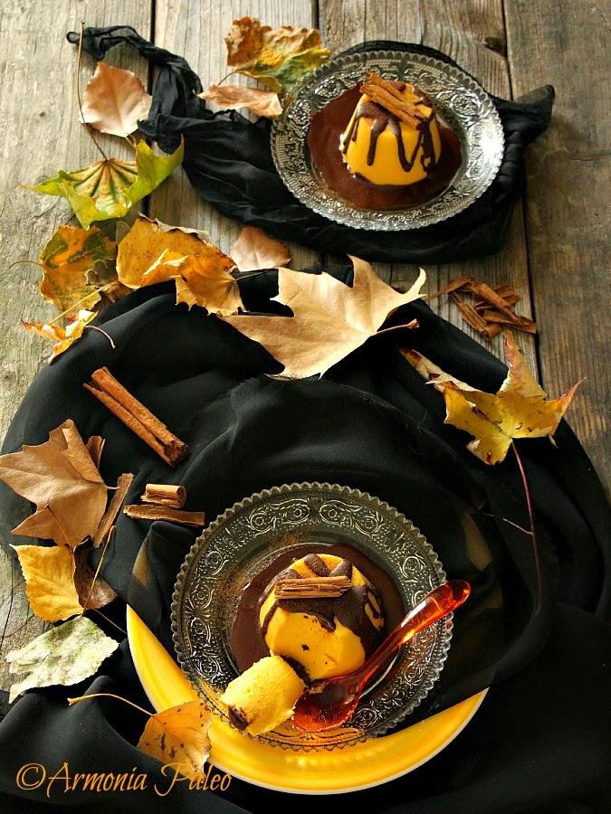 Budini di Zucca con Salsa di Cioccolato alla Cannella di Armonia Paleo