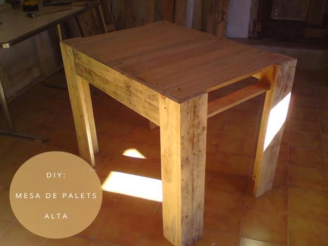 Diy palets mesa de comedor con palets - Mesa de palets ...