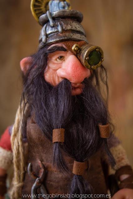 ooak fantasy creature faerie doll lucky dwarf pet