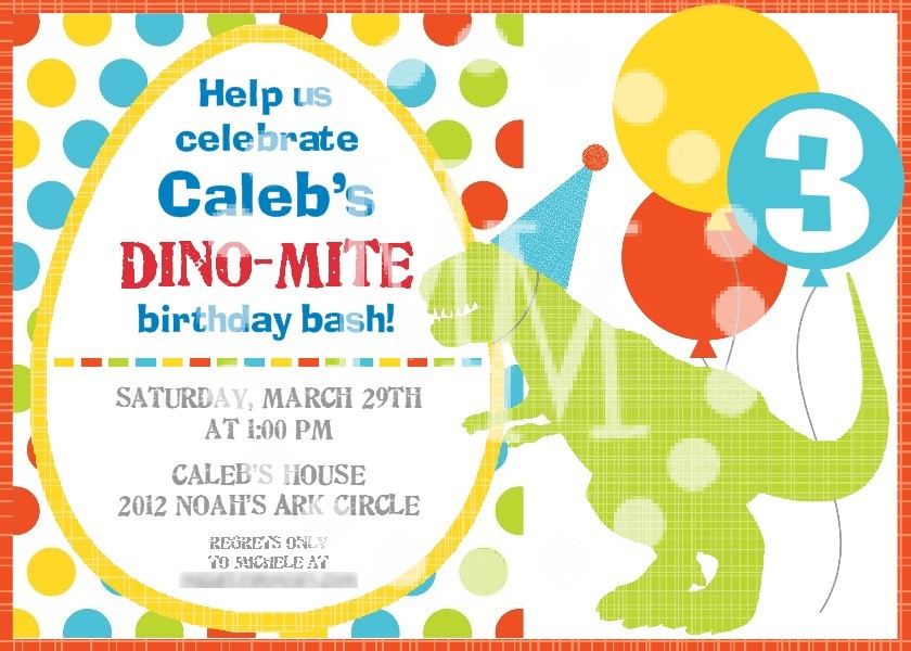 Dinosaur Birthday Party Invitation - The Scrap Shoppe