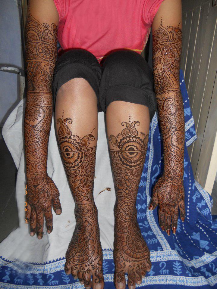 Mehndi Bride S : Mehndi bridal latest designs
