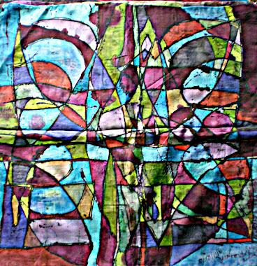 "The maze (22"" X 22"") 18/10/2010"