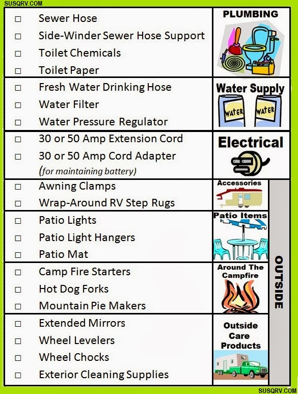 Whether You Are New To RVing Or An Old Hand Starting A Camping Season This List Will Help Make Sure Fully Prepared