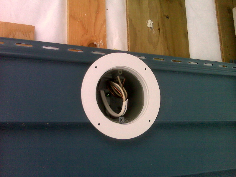 building a house a simple plan flashing for an outdoor light
