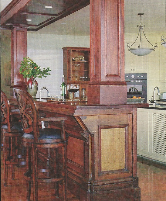 Red door home seven ways to add vintage charm to your house for Beautiful home bars