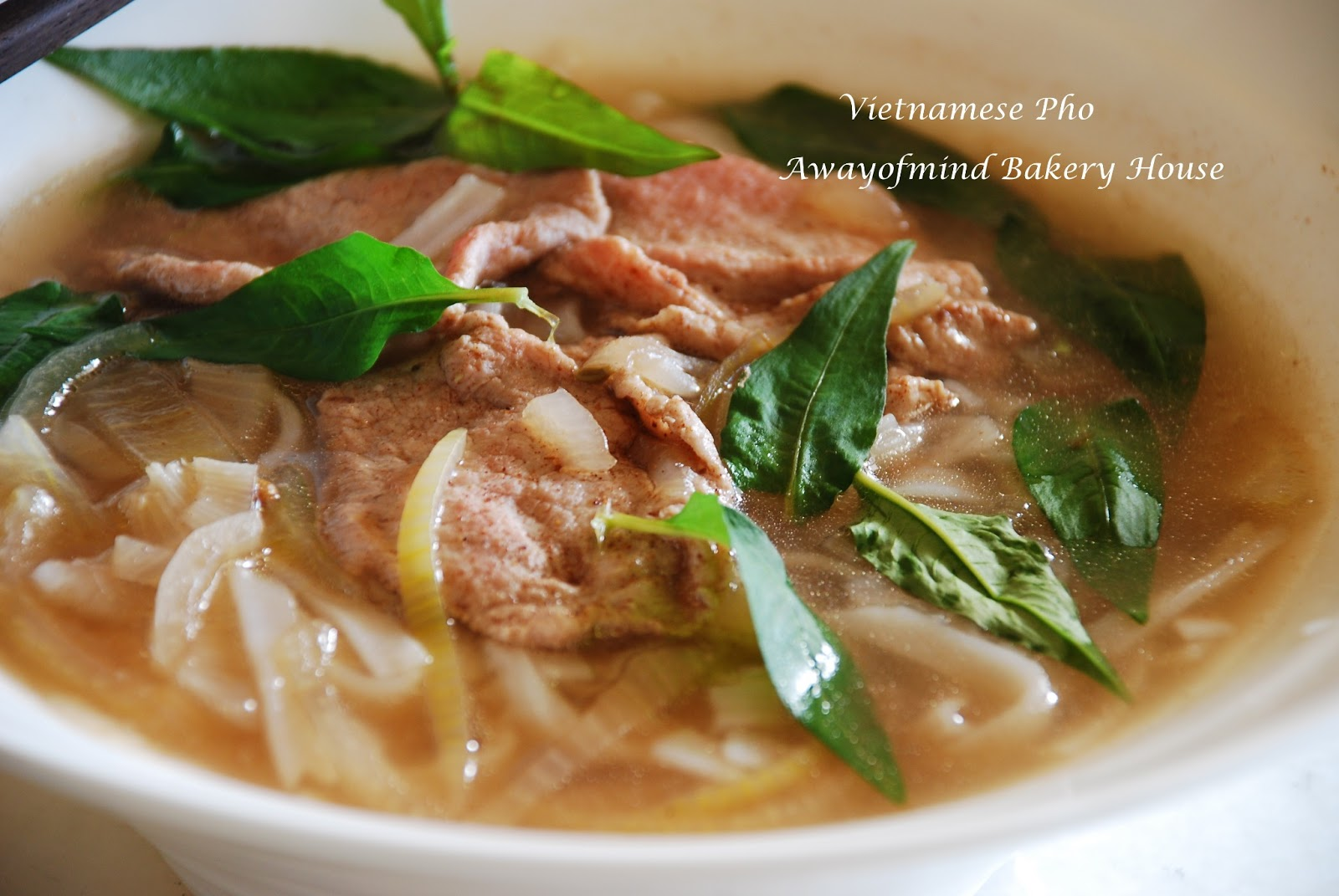 Awayofmind bakery house vietnamese pho beef rice noodles for Asian cuisine and pho