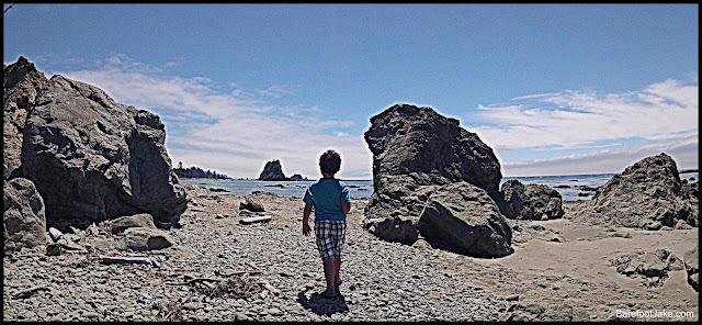 family hiking olympic coast