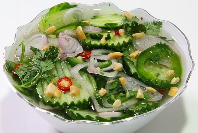 Огуречный салат рецепт с