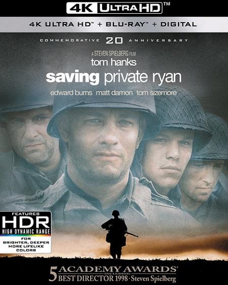 Saving Private Ryan 4K (Rescatando al Soldado Ryan 4K) (1998) 2160p 4K UltraHD HDR BluRay REMUX 70GB mkv Dual Audio Dolby TrueHD ATMOS 7.1 ch