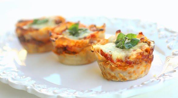 Bite Size Lasagna