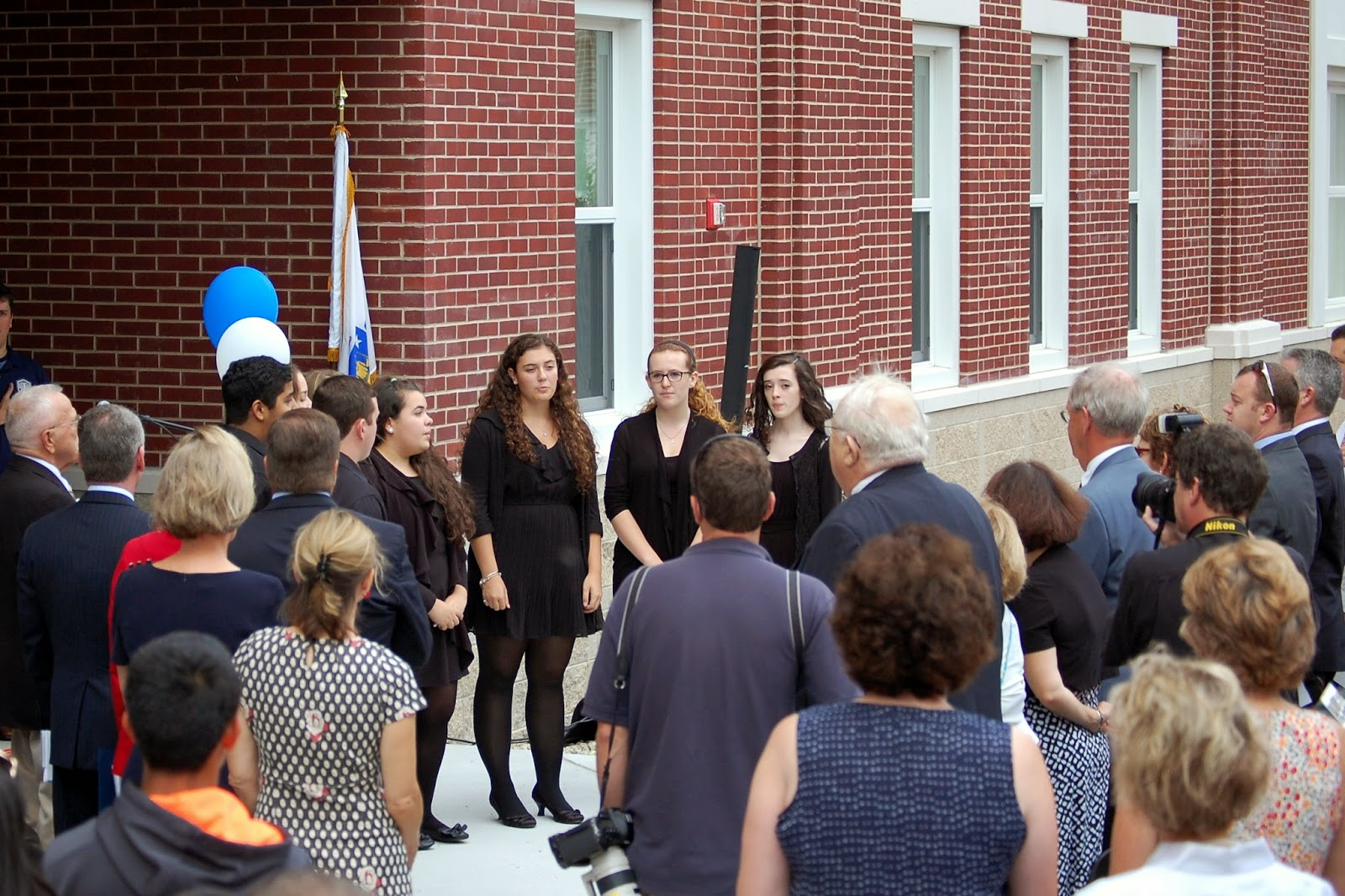 members of the FHS Chorus sang the National Anthem