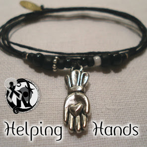 Custom Made Helping Hands Bracelet by Never Take It Off