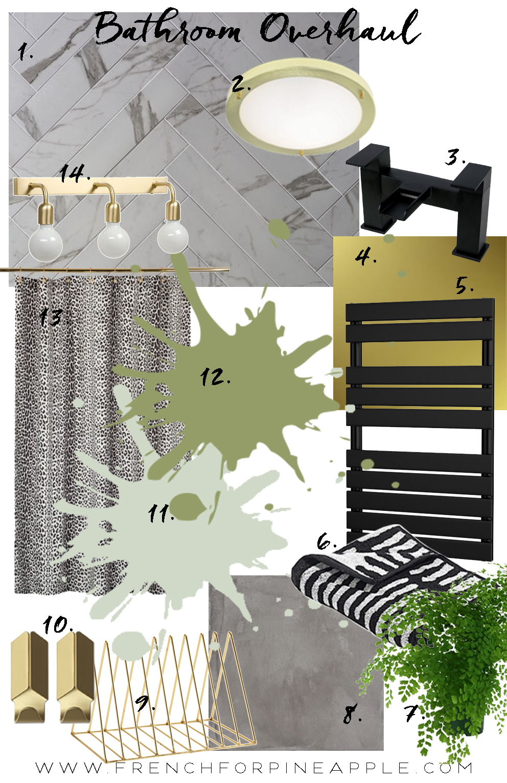 Bathroom Overhaul Moodboard - French For Pineapple Blog