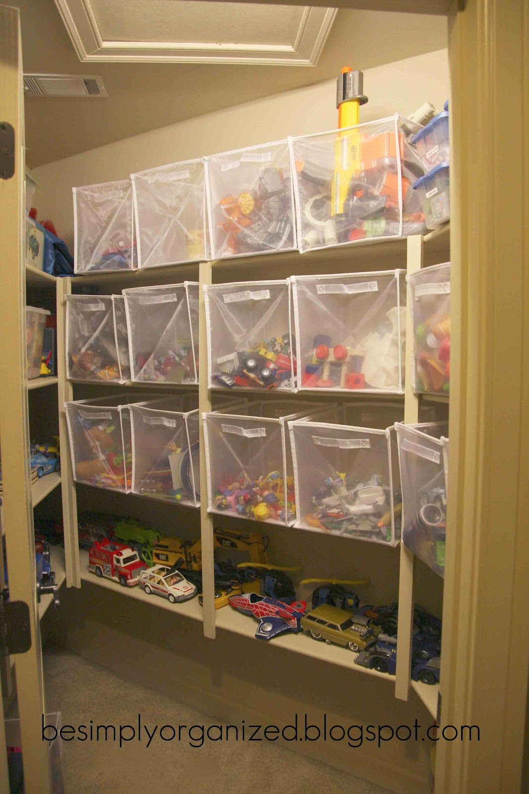 Playroom toy organization simply organized Closet toy storage ideas