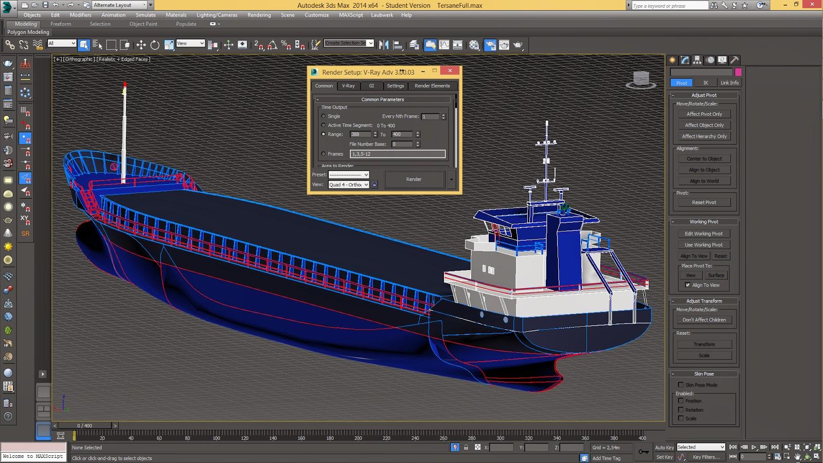 3DSMax Gemi Modelleme