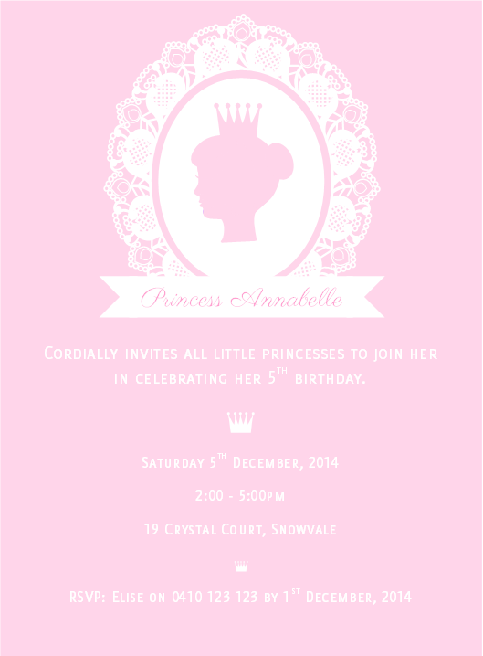 pink princess party birthday invitation printable and personalized crown kids party ideas digital