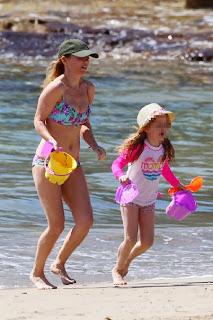 Geri Halliwell Flower Bikini Australia