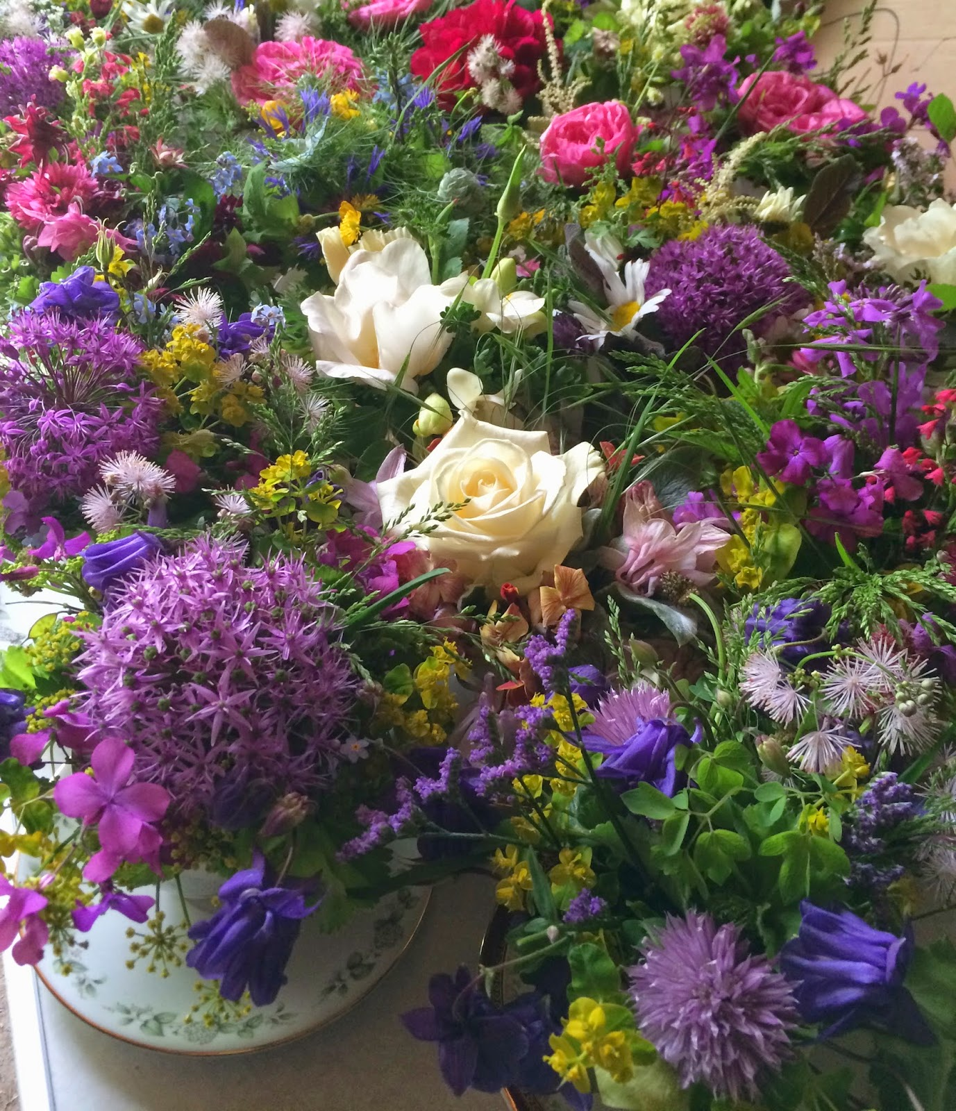 Wedding flowers Birmingham.  Tuckshop Flowers uses 100% British flowers.