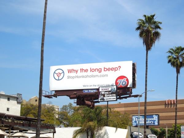 Why the long beep? 76 billboard