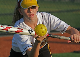 girls softball practice