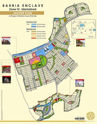 Mapa da Bahria Enclave - Islamabad