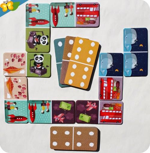 Touroperator de Janod, jeu de dominos, illustré par le studio Tomso