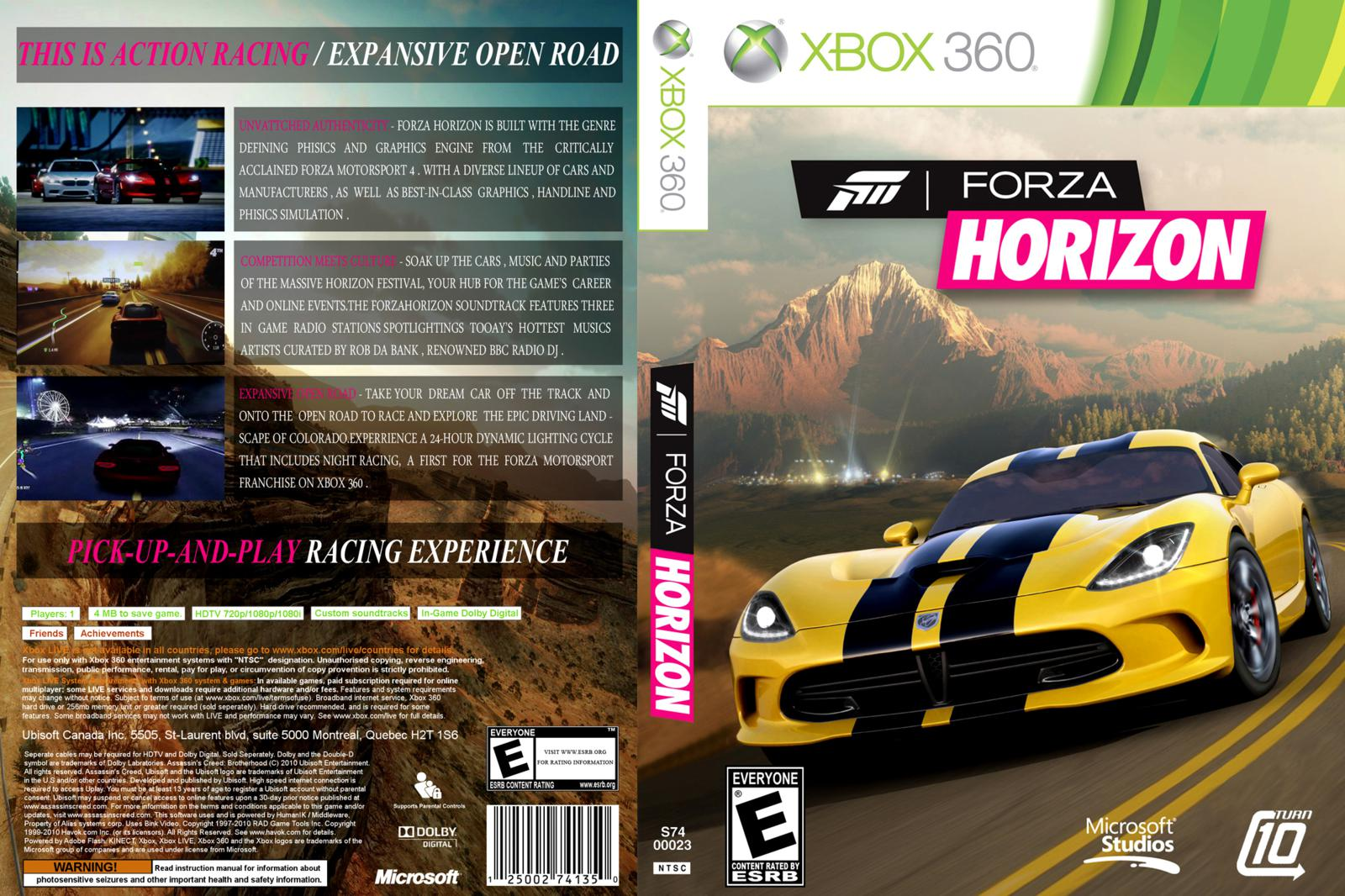capa cover caratula xbox360 forza horizon capa scan. Black Bedroom Furniture Sets. Home Design Ideas