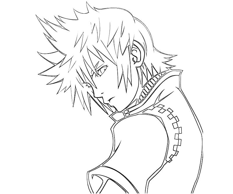 Kingdom herats free colouring pages for Kingdom hearts printable coloring pages