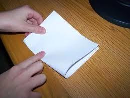 papel sulfite dobrado