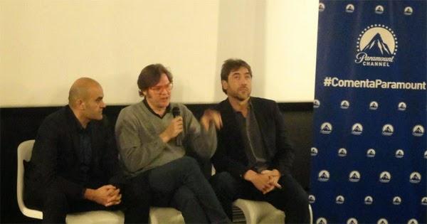 Álvaro Longoria y Javier Bardem en #ComentaParamount