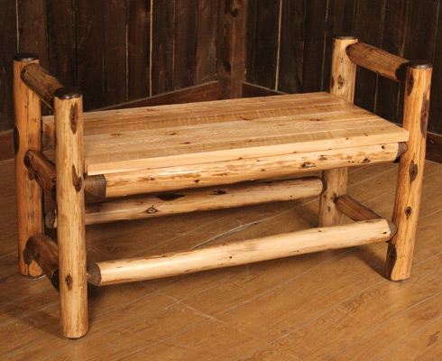 ... & Railing Blog: Log Boot Benches: The Rustic Mudroom Must-Have