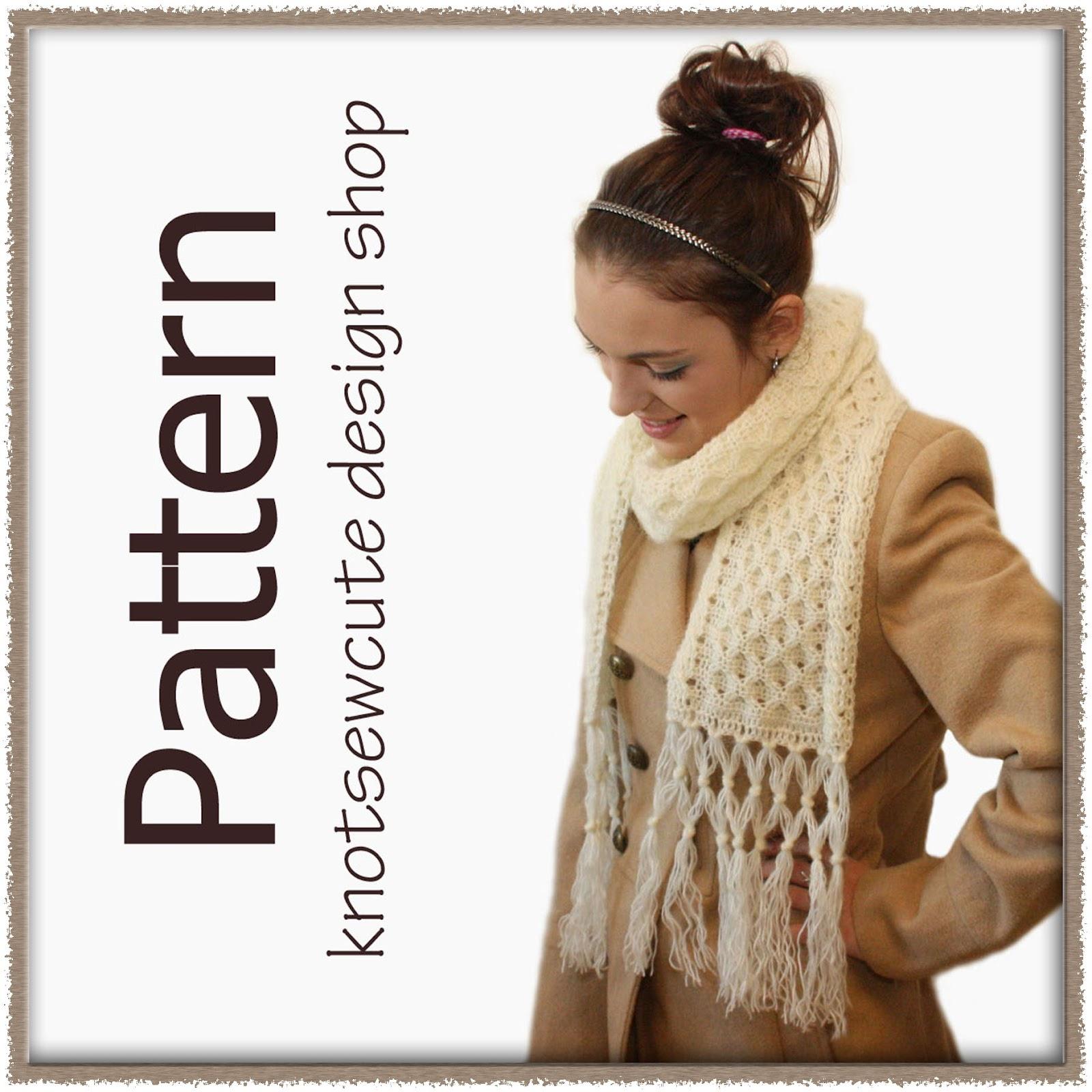 knot•sew•cute design shop: new crochet pattern - honey bee scarf by ...