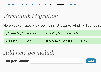 WordPress Permalink Migration Steps