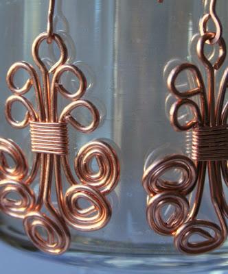 Anna (gracious): copper earrings :: All Pretty Things