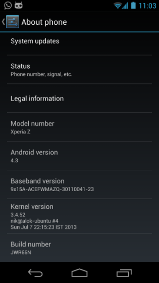 Android 4.3 custom ROM